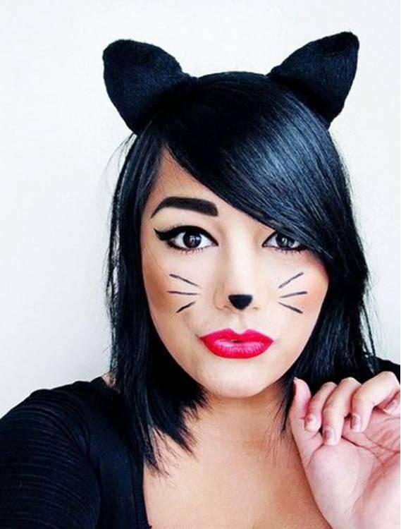Как сделать лицо как у кошки