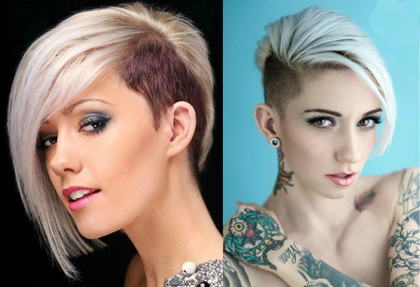 Ассиметричные причёски на