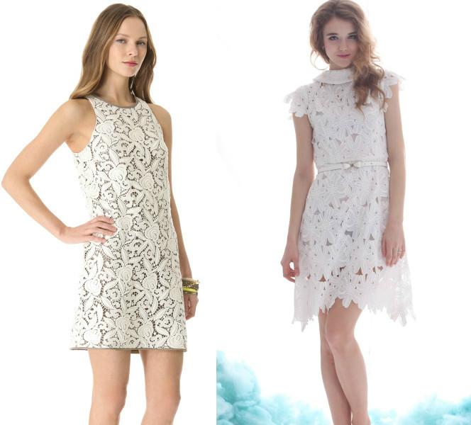 Платья из белого гипюра фото