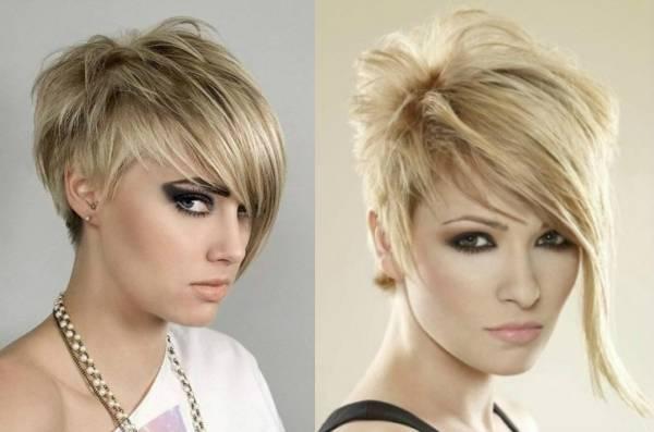 Градуированные стрижки на короткие волосы