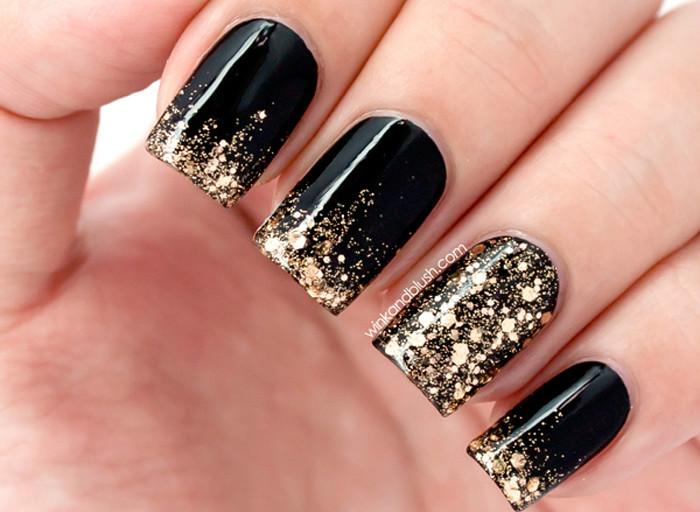 Дизайны ногтей с черным лаком
