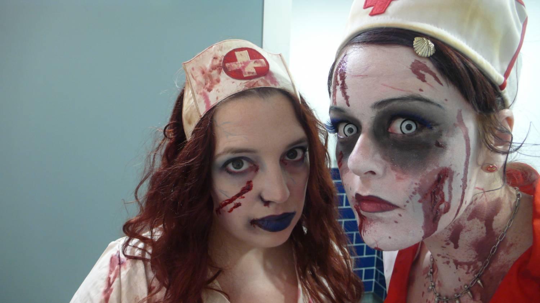 Макияж медсестры для хэллоуина