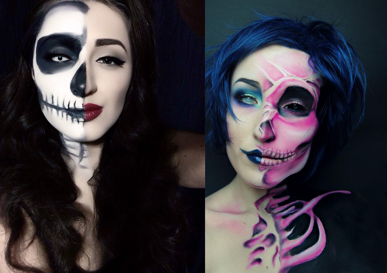 Рисунок на лице на хэллоуин видео 48