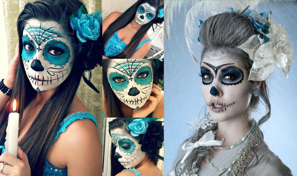 Макияж на хэллоуин для девушек своими руками фото простой
