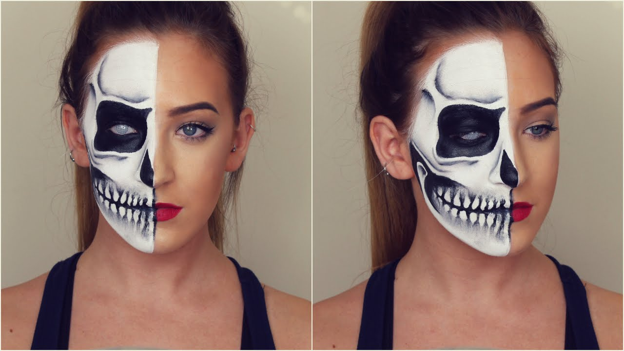 Skeleton face makeup
