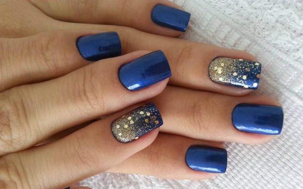 Фото дизайн ногтей под синее платье фото