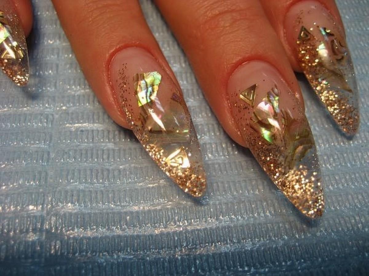 Дизайн нарощенных ногтей аквариумный дизайн