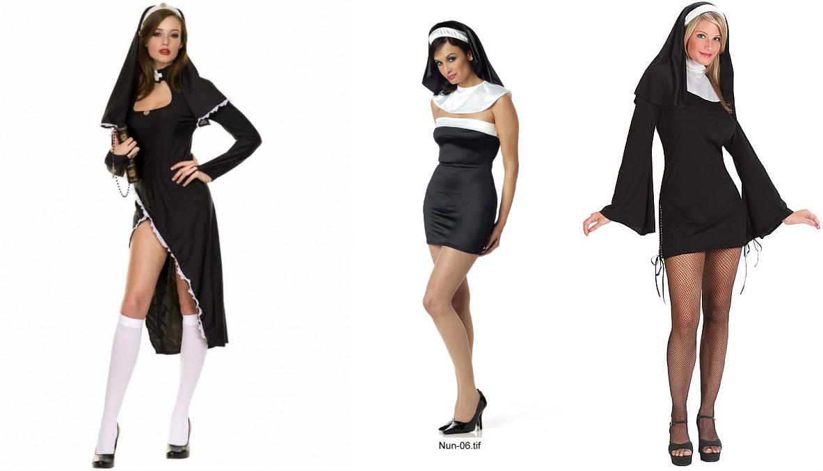 Сексуальные девушки в одежде монашек