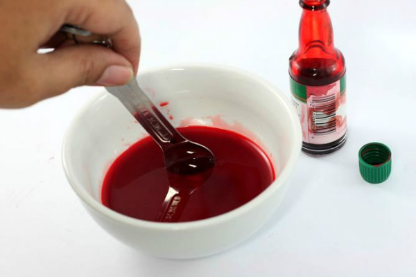 Как сделать краску цвета крови 944