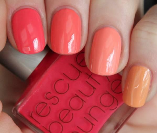 Дизайн ногтей коралловый цвет