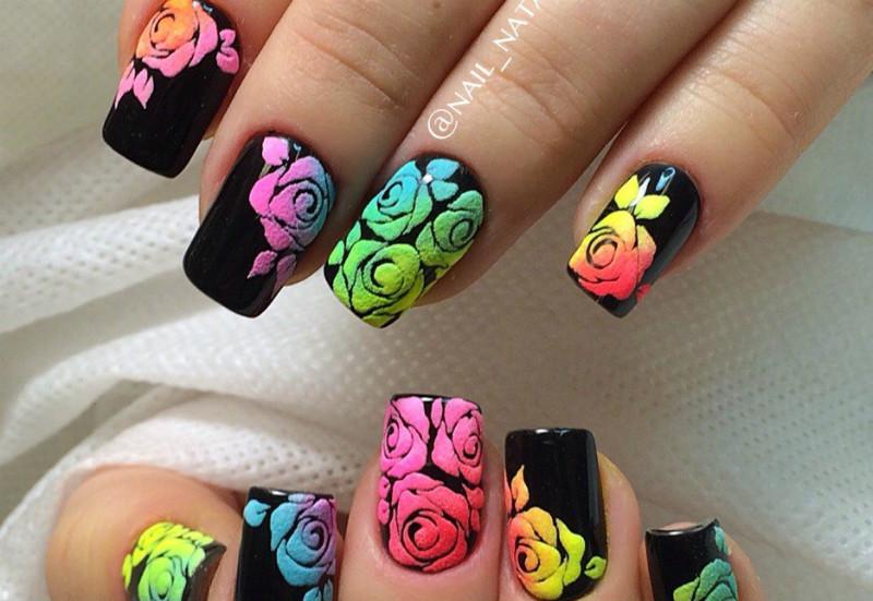 Цветы на ногтях: как рисовать маникюр с цветами