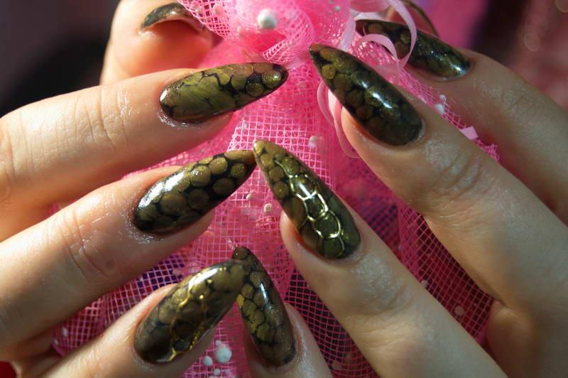 Ногти со змеёй