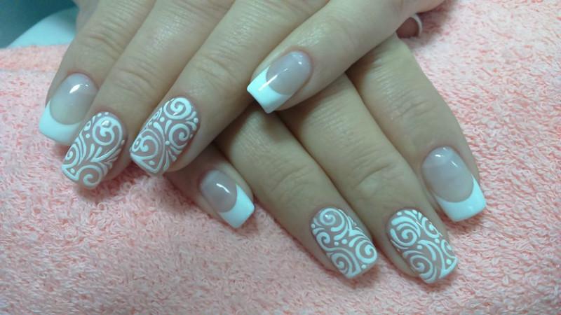 Дизайн ногтей вензеля и завитки видео