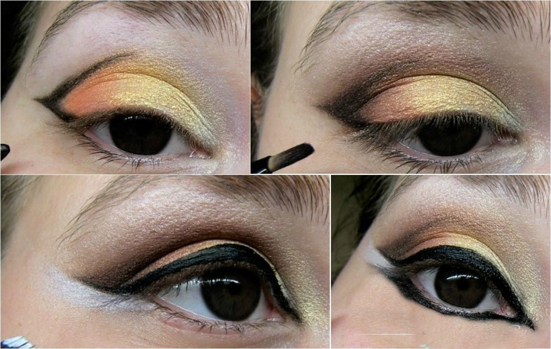 Как сделать растушеванные стрелки на глазах