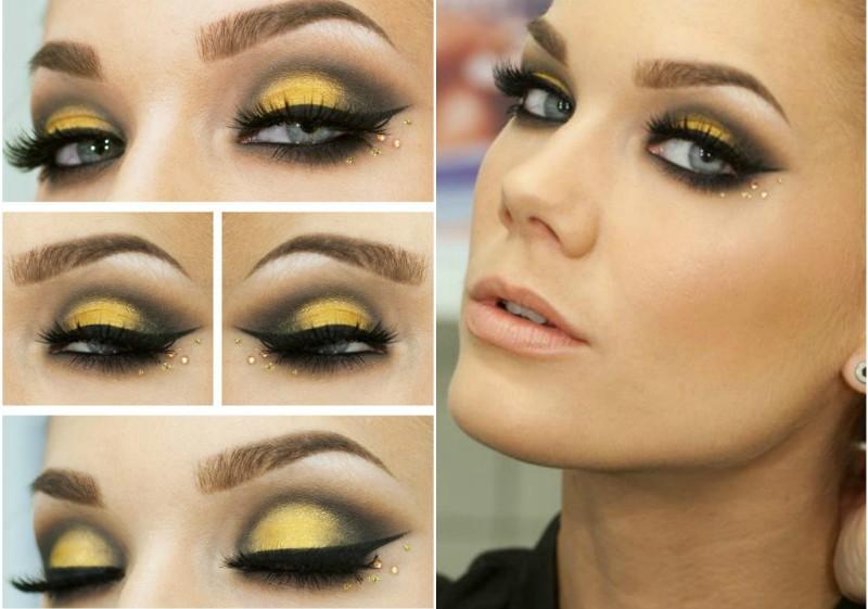 Какой макияж под желтое платье