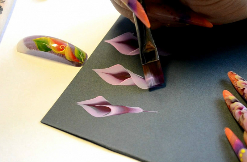 Кисти для китайской росписи на ногтях