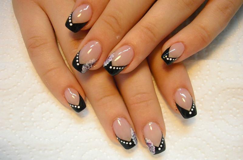 Дизайн ногтей французский фото