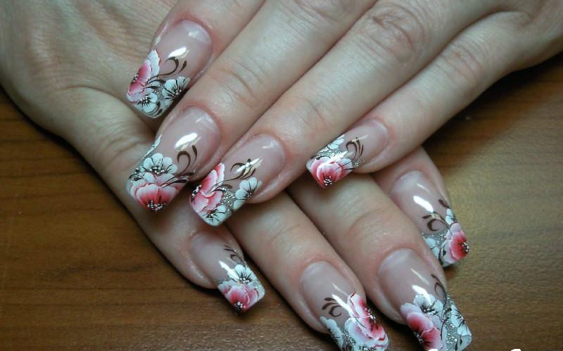 Фото дизайны квадратных ногтей