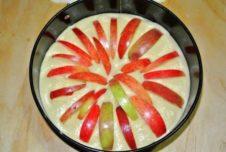 Пирог на минеральной воде с яблоками - рецепт пошаговый с фото