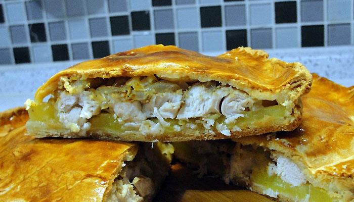 Пирог с курицей и капустой на кефире