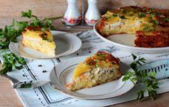 Дрожжевой пирог галета с фаршем и морковью - рецепт пошаговый с фото