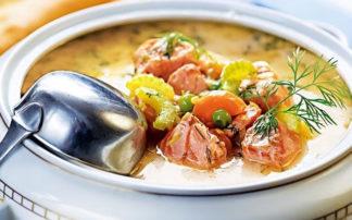 Перловый суп с говяжьей тушенкой - рецепт пошаговый с фото
