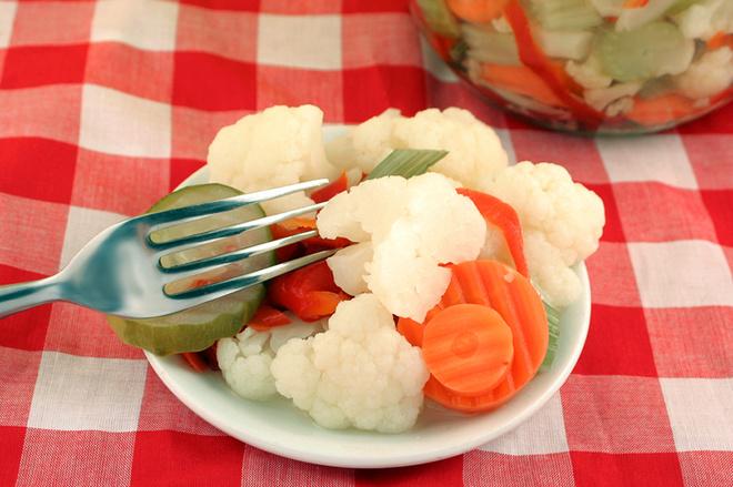 Маринуем цветную капусту вкусно