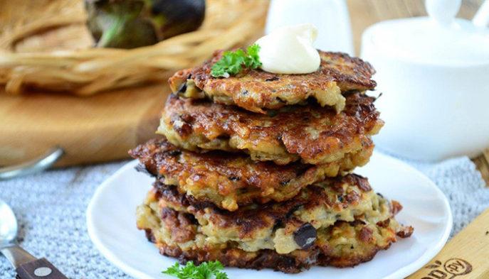 Оладьи из баклажанов быстро и вкусно - рецепт пошаговый с фото