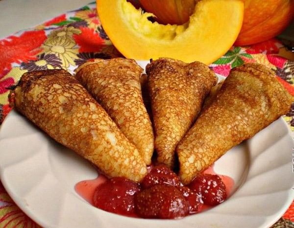 Блинчики из тыквы – 9 быстрых и вкусных рецептов || Блины с тыквой и яблоками