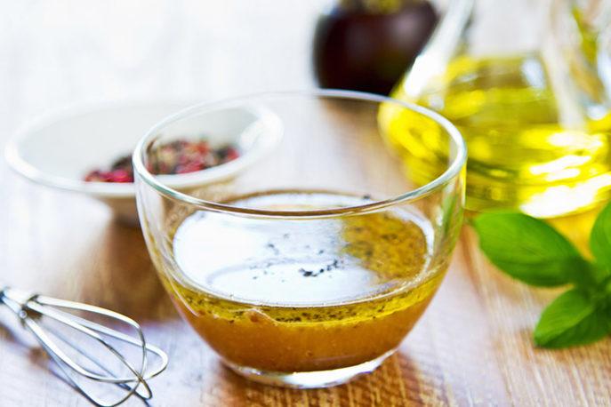 Заправка для овощного салата с оливковым маслом
