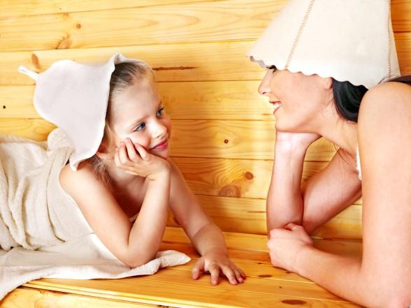 Как парить ребенка в бане