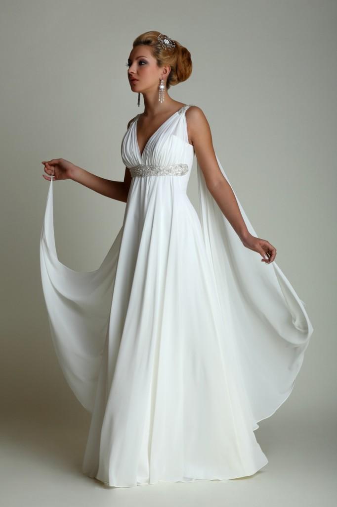 Свадебные платья в греческом стиле  примеряем образ богини  8a99340453fb8