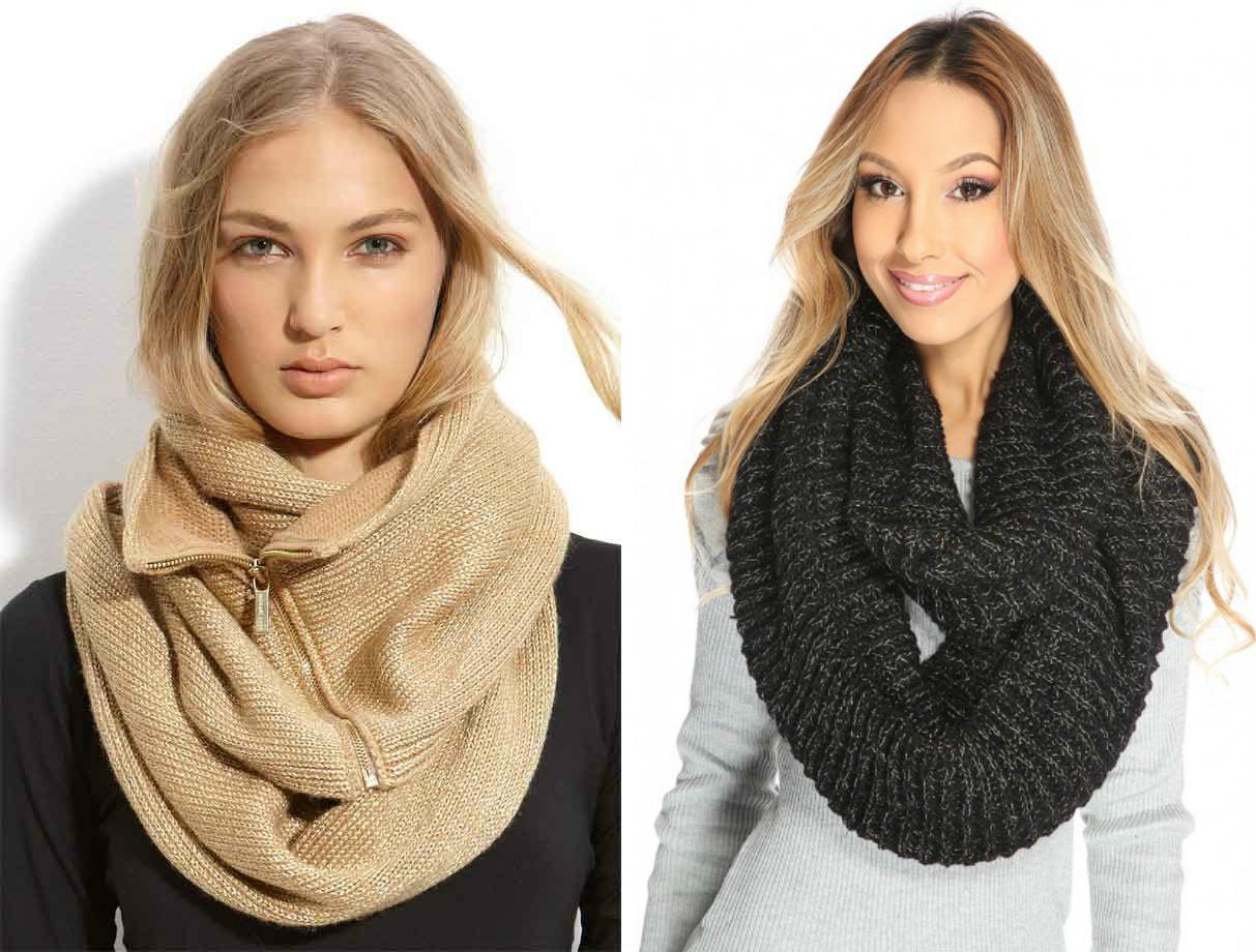 Как правильно одевать легкий шарф снуд фото