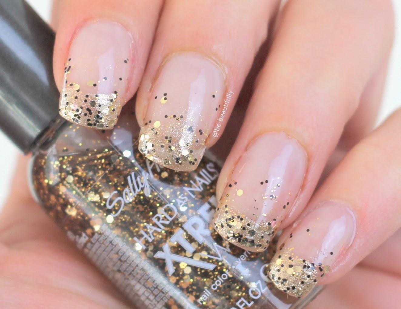 Дизайн ногтей сыпучими блестками