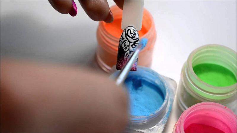 цветная акриловая пудра для ногтей в москве