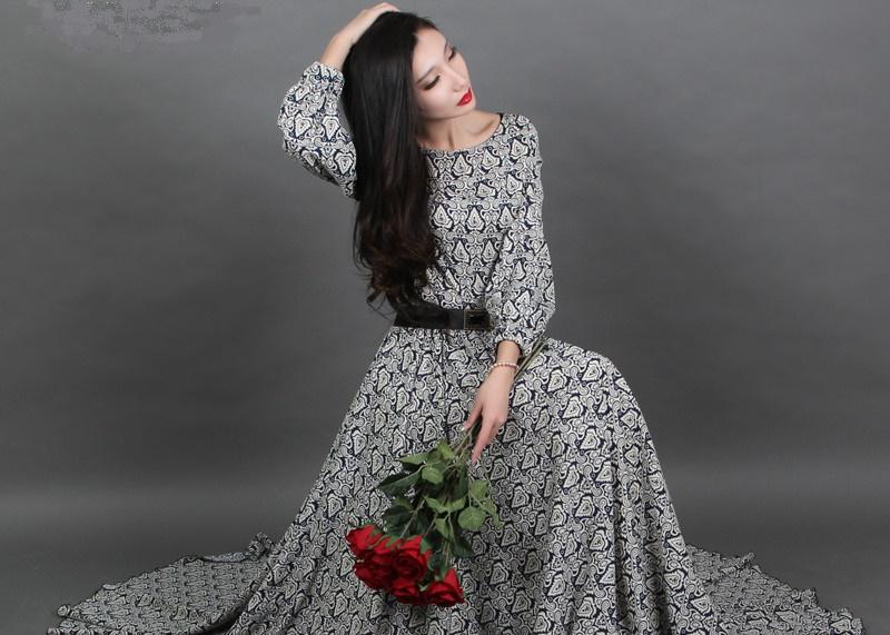 9d627cb97cfcc91 Платья в пол с длинными рукавами: советы стилистов по выбору моделей