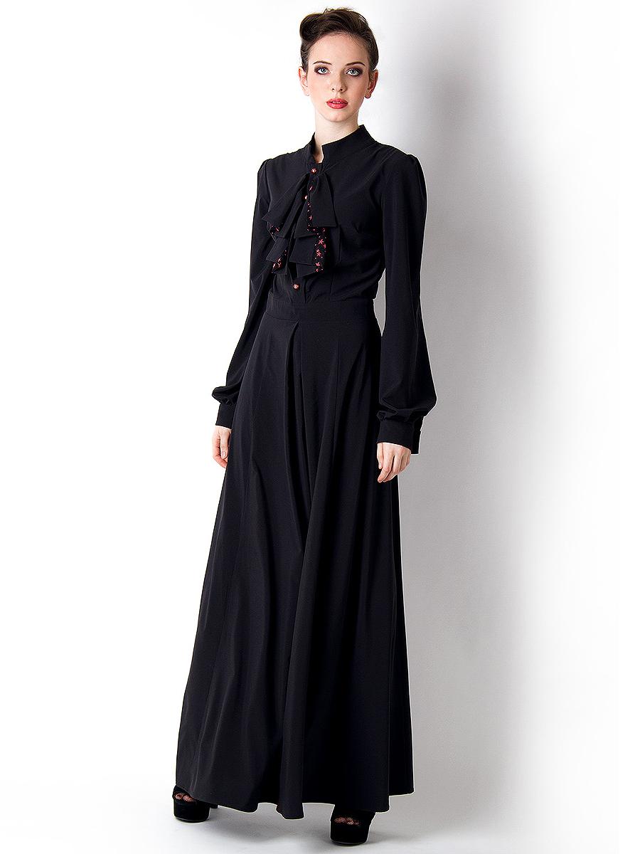 ac66296e8c916 Платья в пол с длинными рукавами: советы стилистов по выбору моделей