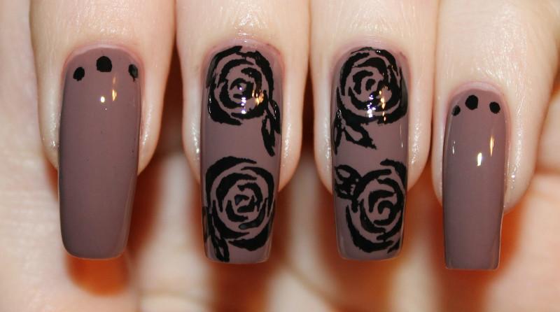 Дизайн Ногтей Роза Фото Пошагово